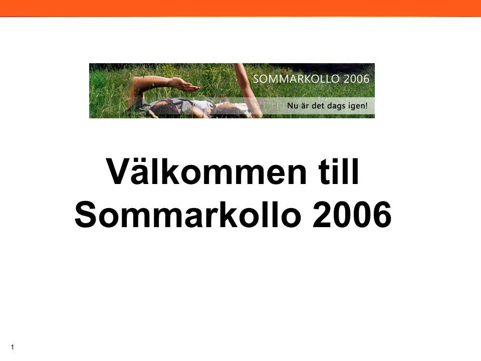 1 Välkommen till Sommarkollo 2006 2006