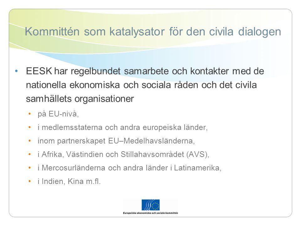 Framtidens utmaningar… Optimera kommitténs roll som samrådsorgan för parlamentet, rådet och kommissionen genom ett intensivare samarbete.