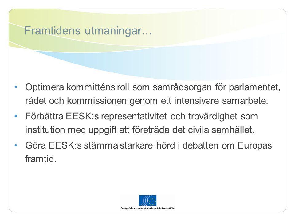 EESK:s mervärde En stor bas av sakkunskap.Strävan efter samförstånd (dynamisk kompromiss).