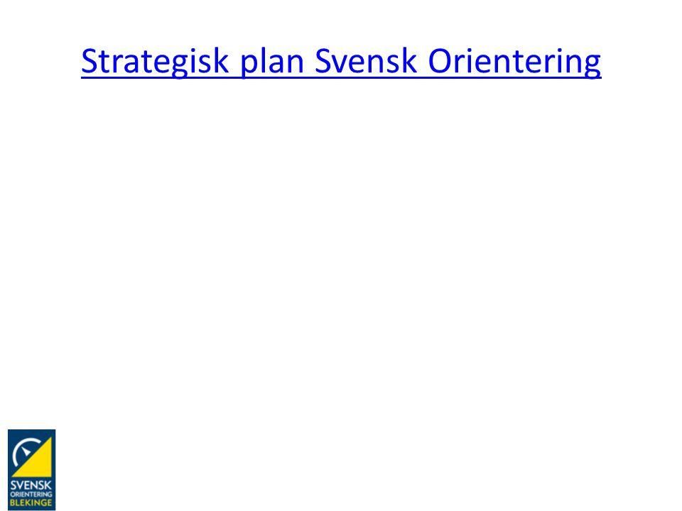 Strategisk plan Svensk Orientering