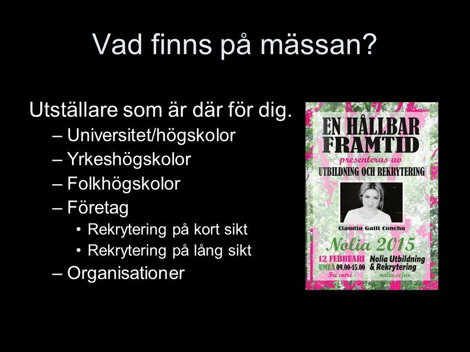 Dessa utställare träffar du på mässan i Umeå.