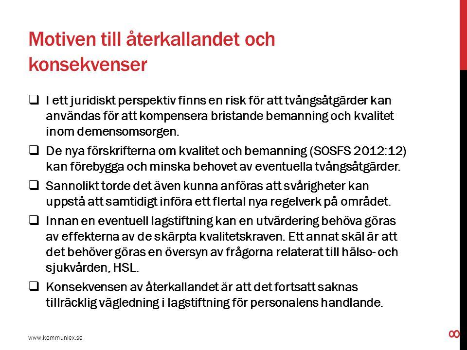 Närmare om Föreskrifterna och råden, SOSFS 20012:12  1 kap.