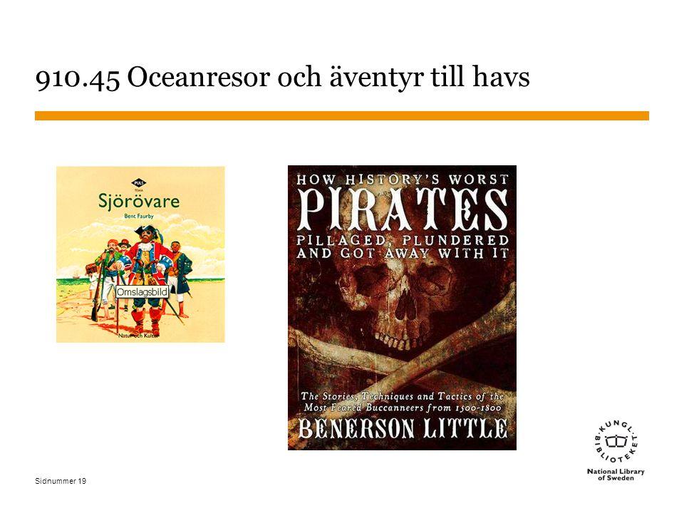 Sidnummer 19 910.45 Oceanresor och äventyr till havs