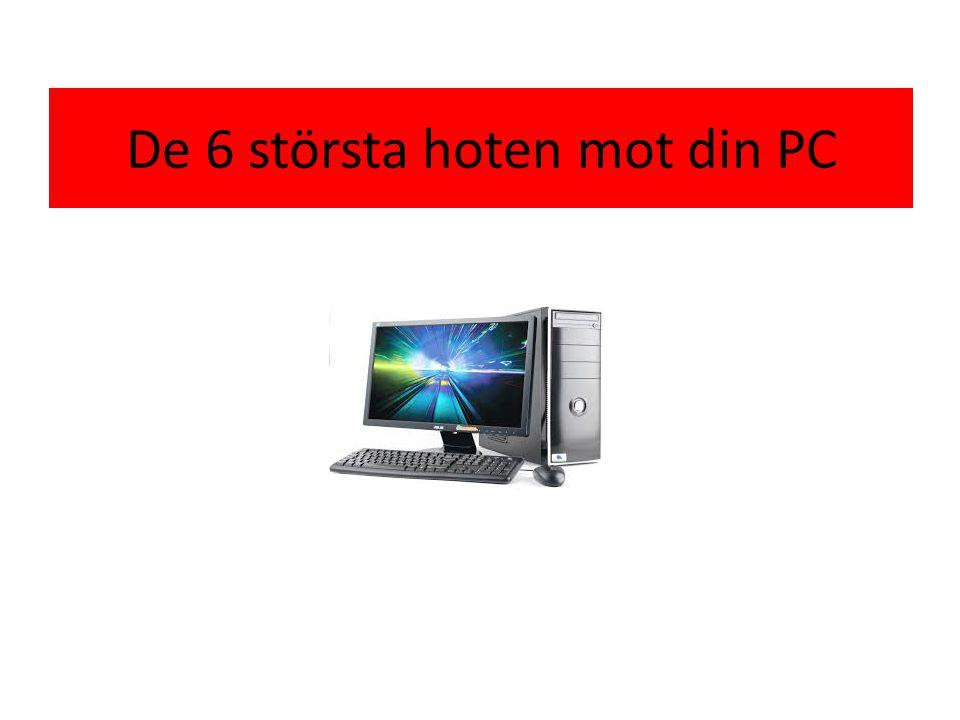 De 6 största hoten mot din PC