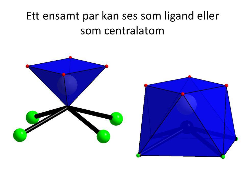 Ett ensamt par kan ses som ligand eller som centralatom