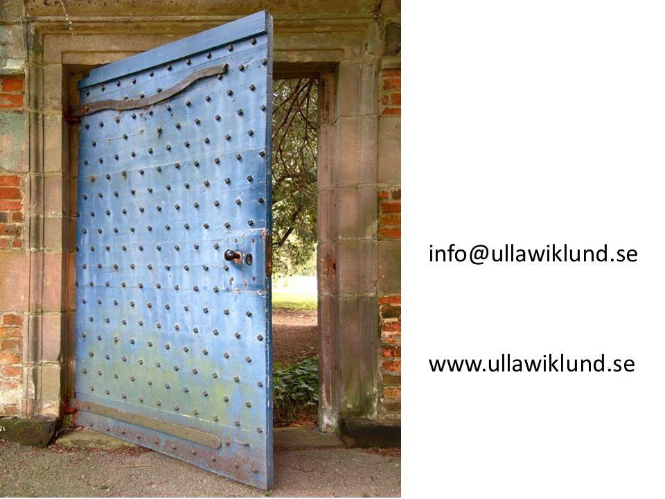 www.ullawiklund.se info@ullawiklund.se