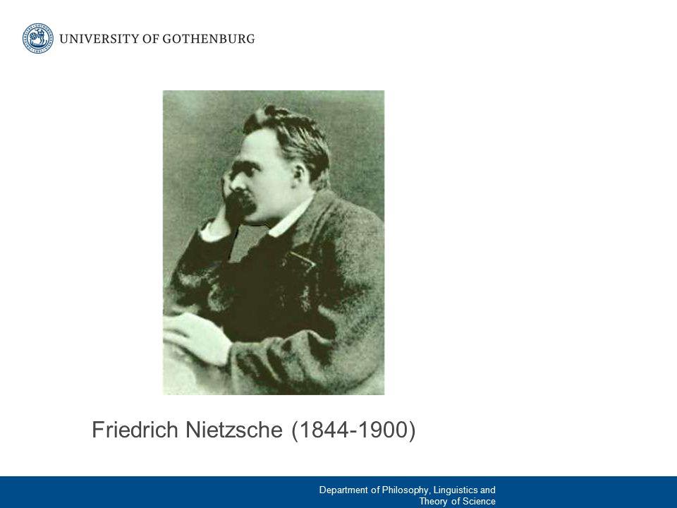 Några centrala idéer hos Nietzsches Viljan till makt Herre/slav-moral Gud är död Omvärdering av alla värden (bortom gott och ont) Övermänniskan Den eviga återkomsten 2015-03-21Institution enhet avdelning | Namn