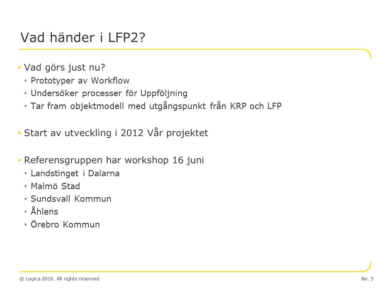 © Logica 2010. All rights reserved Workflow Grundkomponenter No. 6
