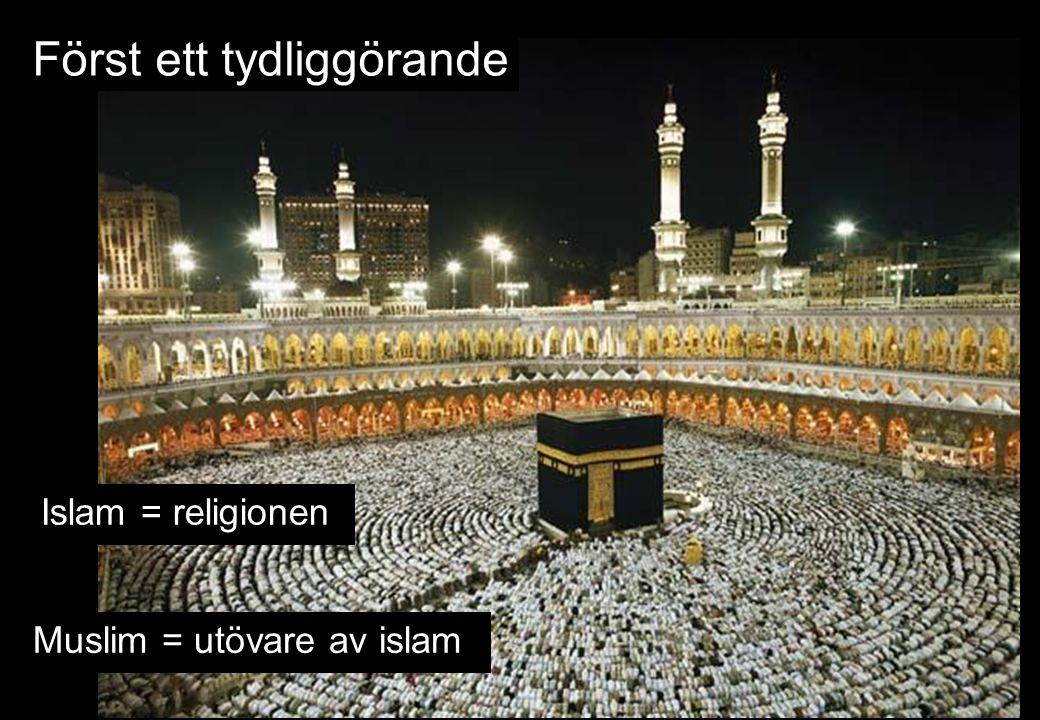 Islam = religionen Muslim = utövare av islam Först ett tydliggörande