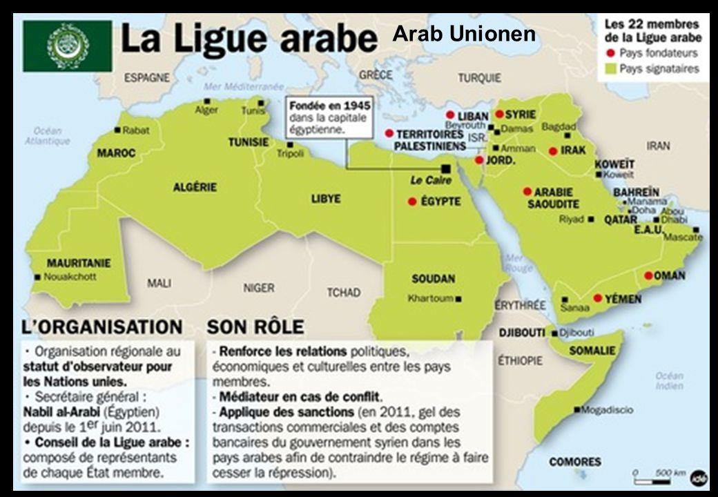 Olika kulturella områden inom arab unionen