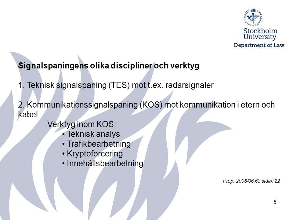 5 Signalspaningens olika discipliner och verktyg 1.