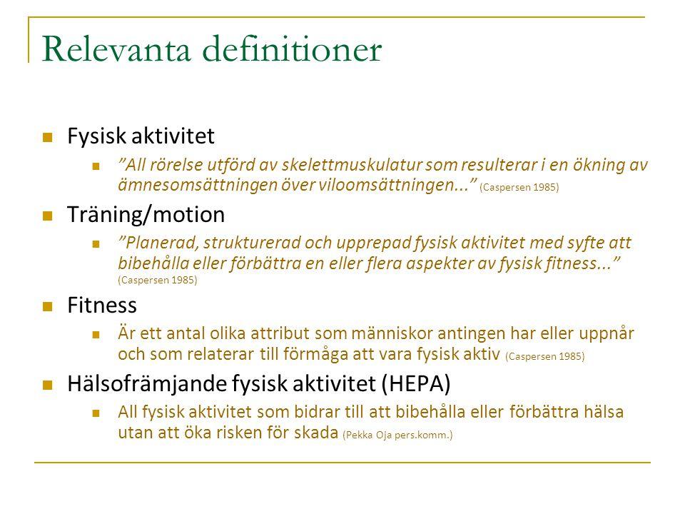 Andel som uppnår minst 60 minuters daglig aktivitet på medelhög intensitet (obs endast Svenska barn) ***