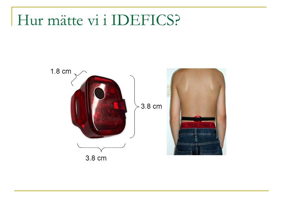 Hur mätte vi i IDEFICS 3.8 cm 1.8 cm