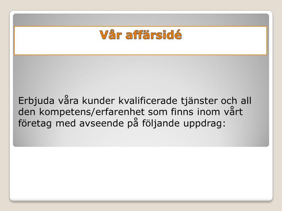 Företagspresentation Blekinge Rör & Svetsteknik AB Uppstart verksamhet 1/1-2009