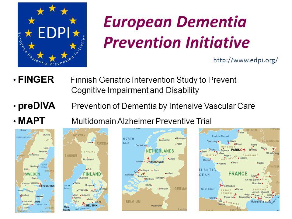 European Dementia Prevention Initiative FINGER Finnish Geriatric Intervention Study to Prevent Cognitive Impairment and Disability preDIVA Prevention