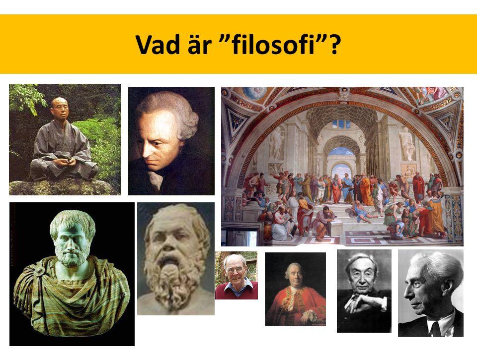 """Vad är """"filosofi""""?"""