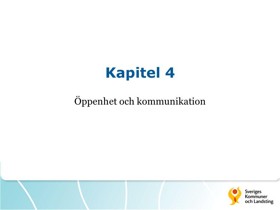 Kapitel 4 Öppenhet och kommunikation