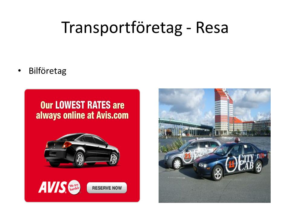 Transportföretag - Resa Bilföretag