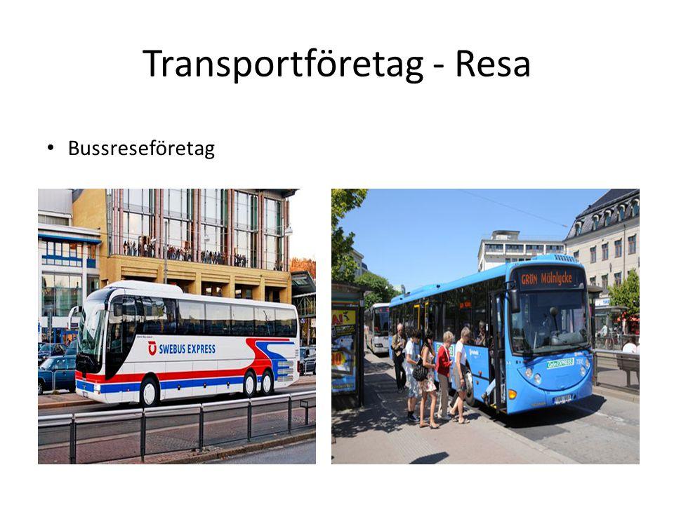 Transportföretag - Resa Bussreseföretag