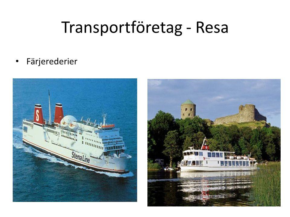 Transportföretag - Resa Färjerederier