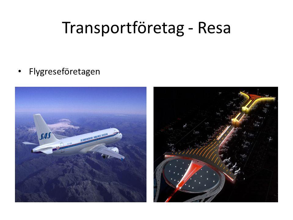 Transportföretag - Resa Flygreseföretagen