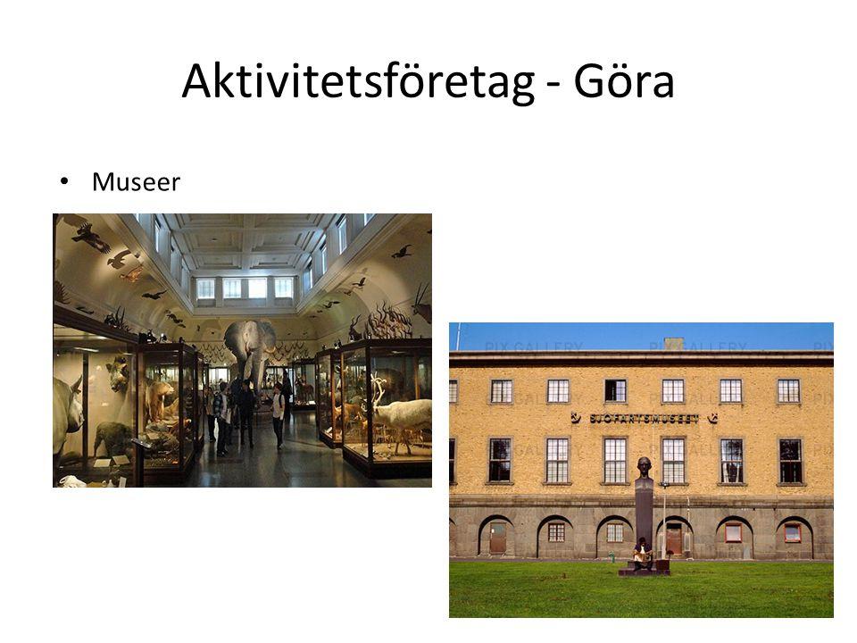 Aktivitetsföretag - Göra Museer