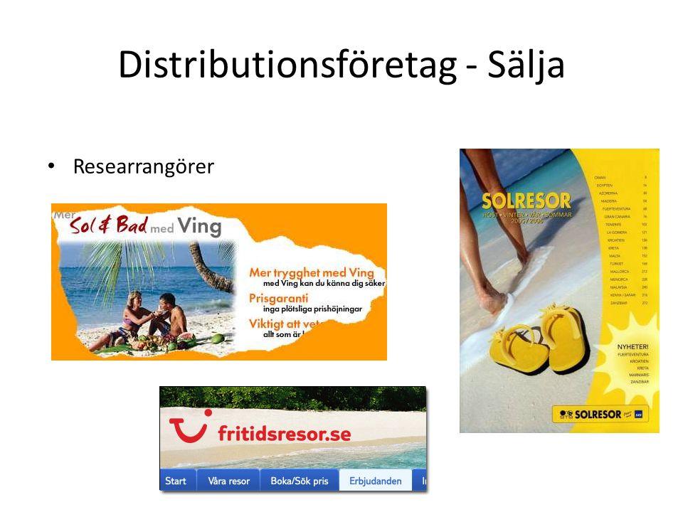 Distributionsföretag - Sälja Researrangörer