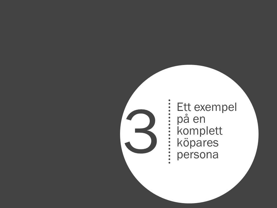 Ett exempel på en komplett köpares persona 3
