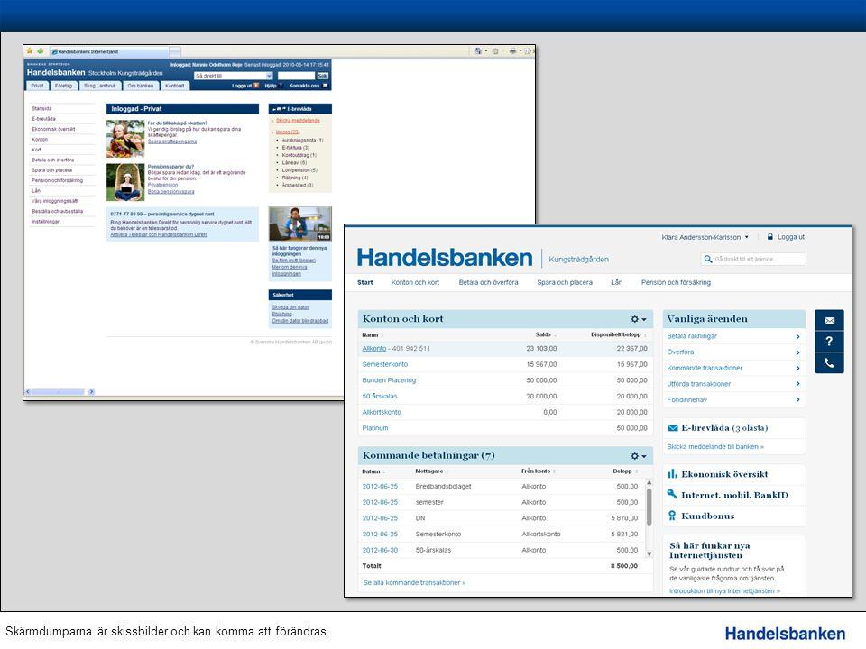 Mobiltjänster Telesvar – via knapptryckningar bland annat få saldo, senaste transaktioner och föra över pengar till egna och andras konton.