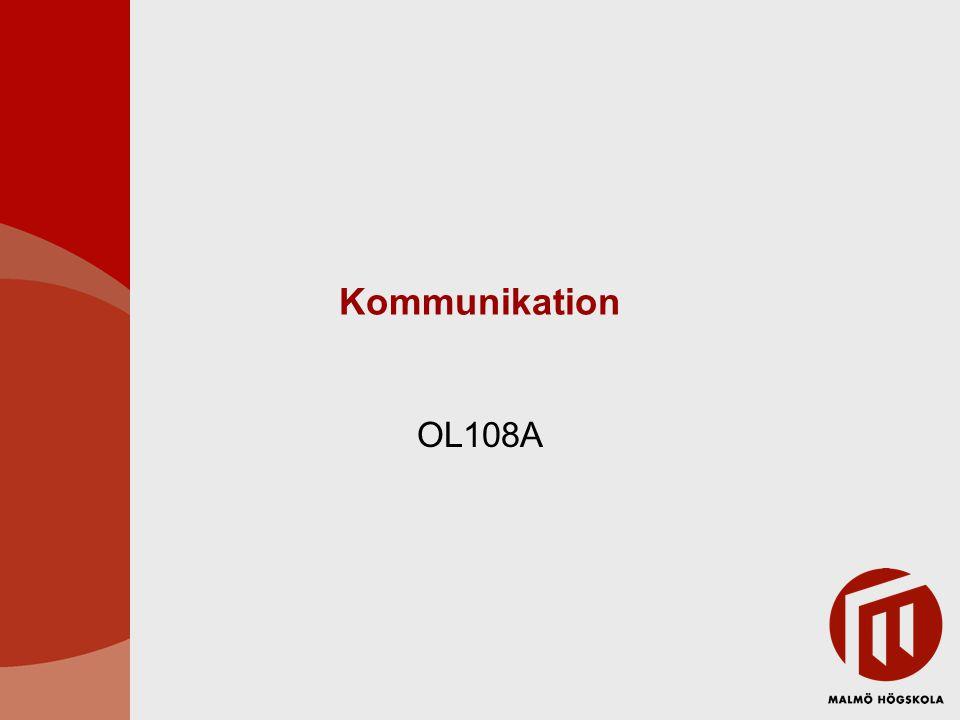 Kommunikation & perception Kommunikation centralt för projekt Kommunikation – interaktion Påverkas mycket av vår perception (hur vi uppfattar och tolkar verkligheten)