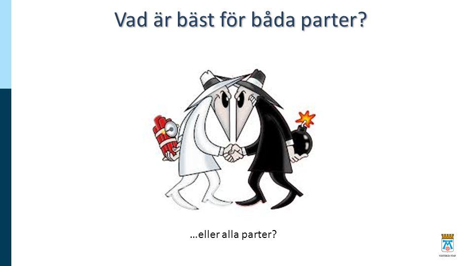 Vad är bäst för båda parter? …eller alla parter?