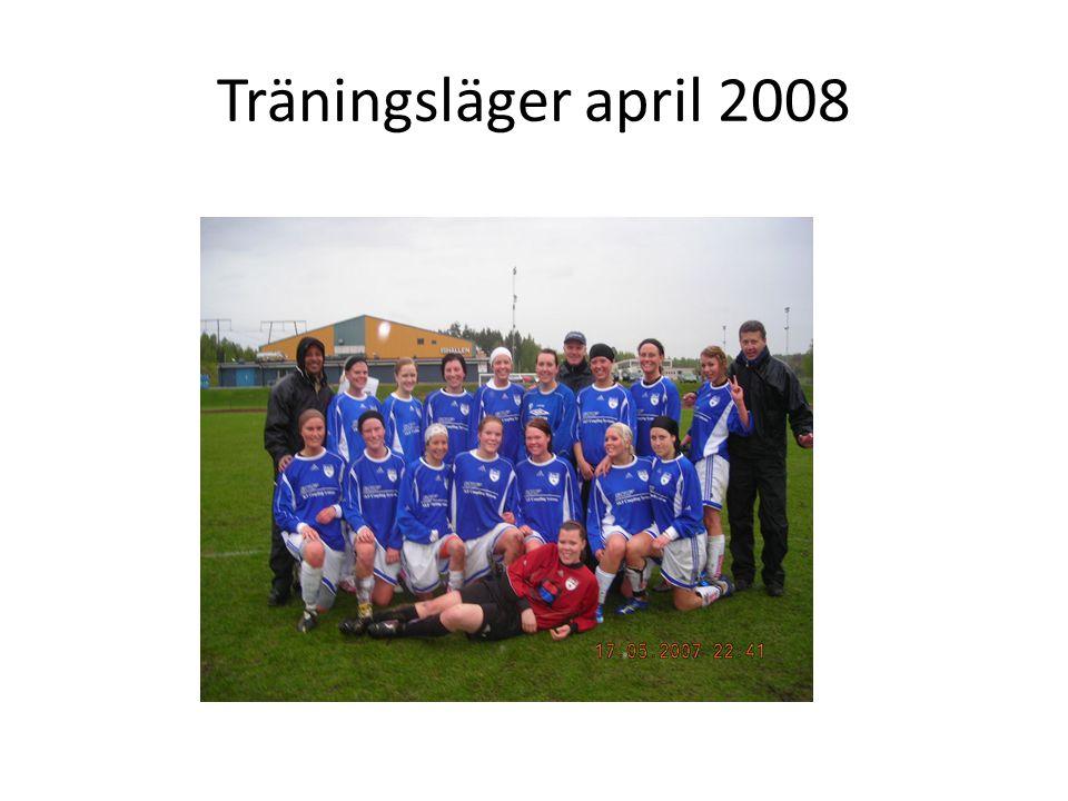 Träningsläger april 2008