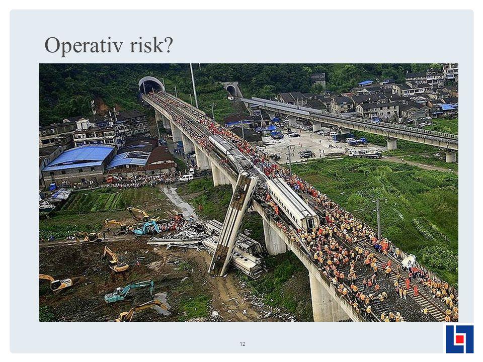 Operativ risk? 12