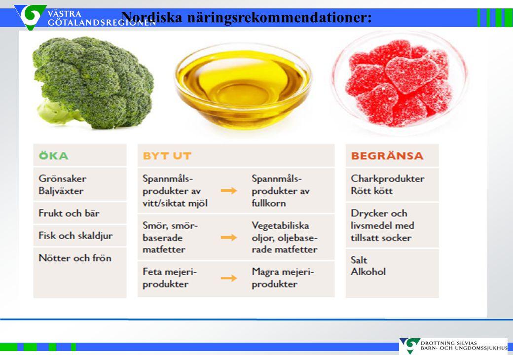 Nordiska näringsrekommendationer: