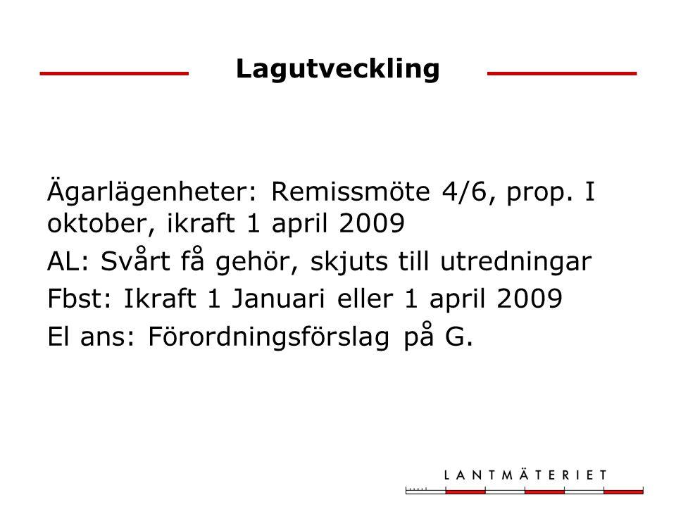 Lagutveckling Ägarlägenheter: Remissmöte 4/6, prop.