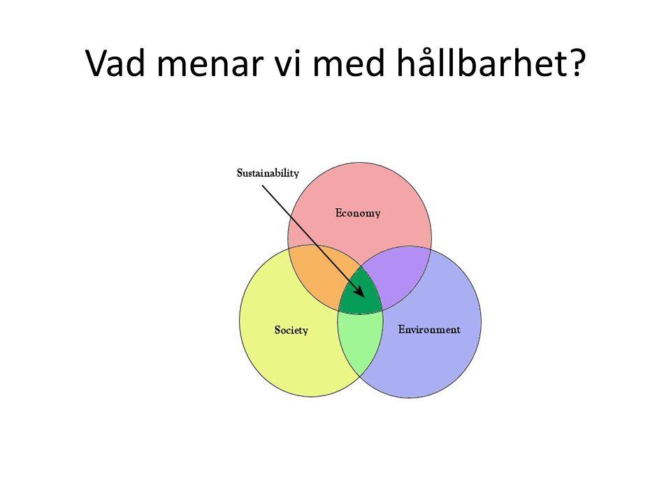 Venn-diagrammet med de tre överlappande cirklarna har vi sett till leda Ofta mer slagord än substans På frågan om definition blir författaren ofta svaret skyldig Vi menar ofta helt skilda saker med hållbarhet.