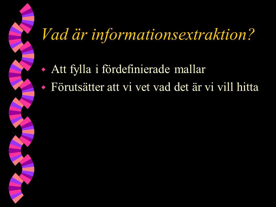 Vad är informationsextraktion.