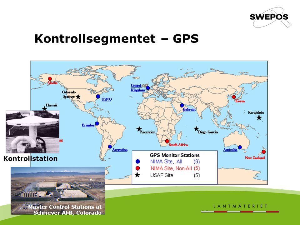 Kontrollsegmentet – GPS Master Control Stations at Schriever AFB, Colorado Kontrollstation