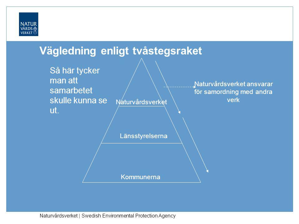 Naturvårdsverket | Swedish Environmental Protection Agency Vägledning enligt tvåstegsraket Så här tycker man att samarbetet skulle kunna se ut.