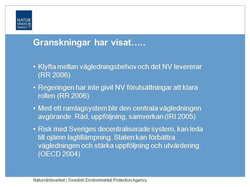 Naturvårdsverket | Swedish Environmental Protection Agency Granskningar har visat…..