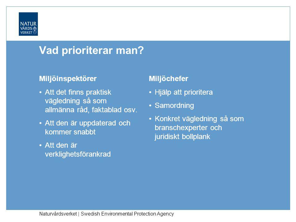 Naturvårdsverket | Swedish Environmental Protection Agency Vad prioriterar man.