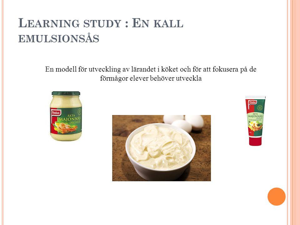 Ä MNET : M ATLAGNINGSKUNSKAP Undervisningen i ämnet matlagningskunskap ska ge eleverna förutsättningar att utveckla följande: Förmåga att planera och organisera matlagning inom olika verksamhetsområden.