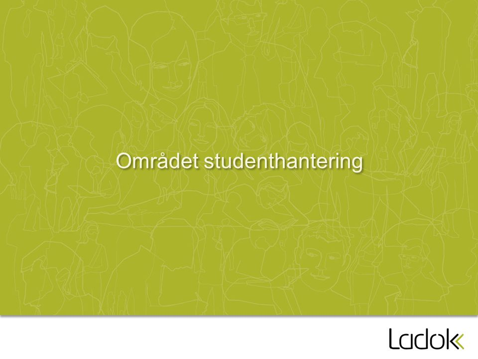 Området studenthantering