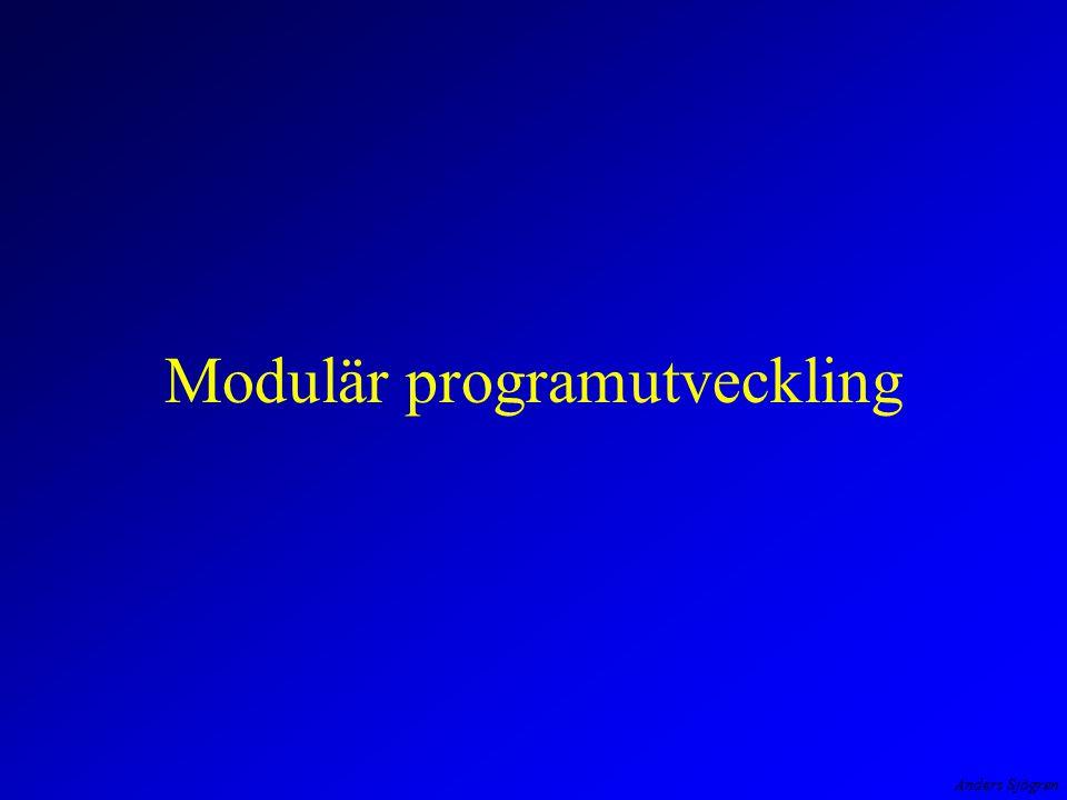 Anders Sjögren Modulär programutveckling