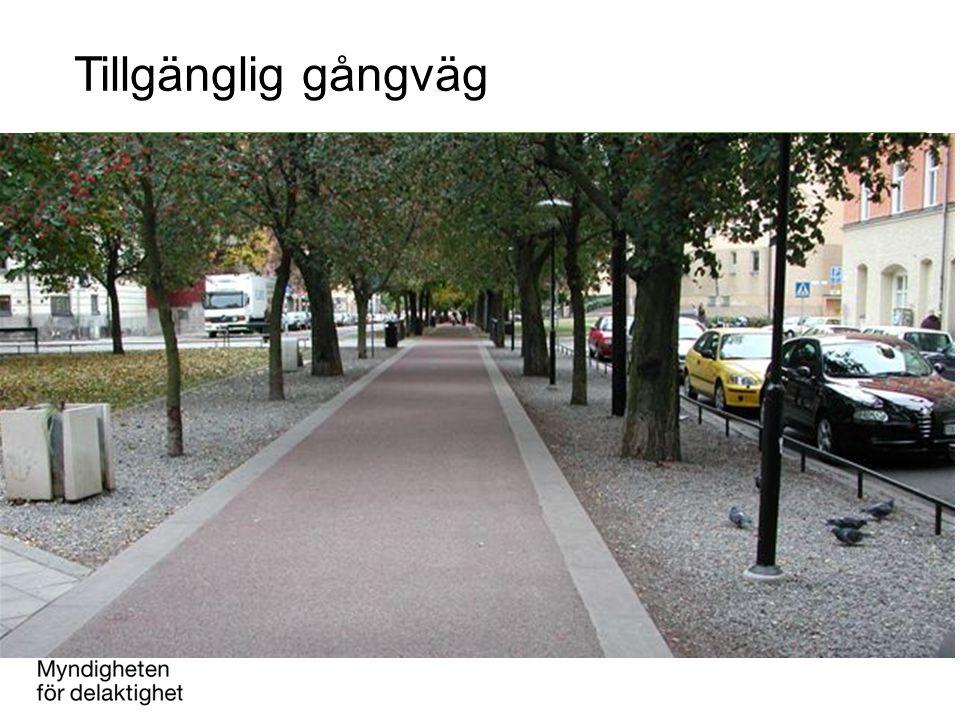 Tillgänglig gångväg