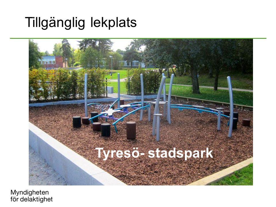 Tyresö- stadspark Tillgänglig lekplats
