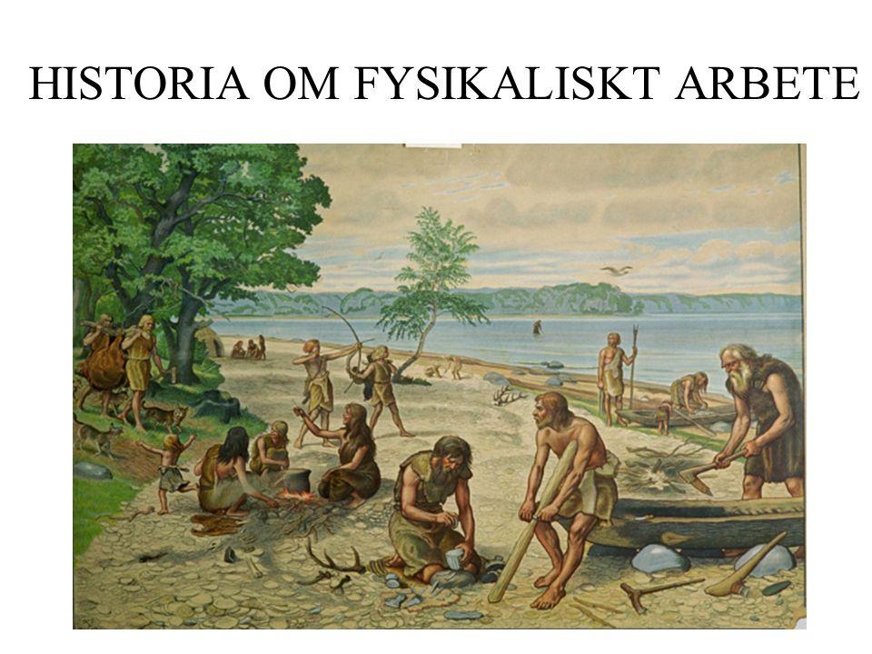 HISTORIA OM FYSIKALISKT ARBETE W =S x F