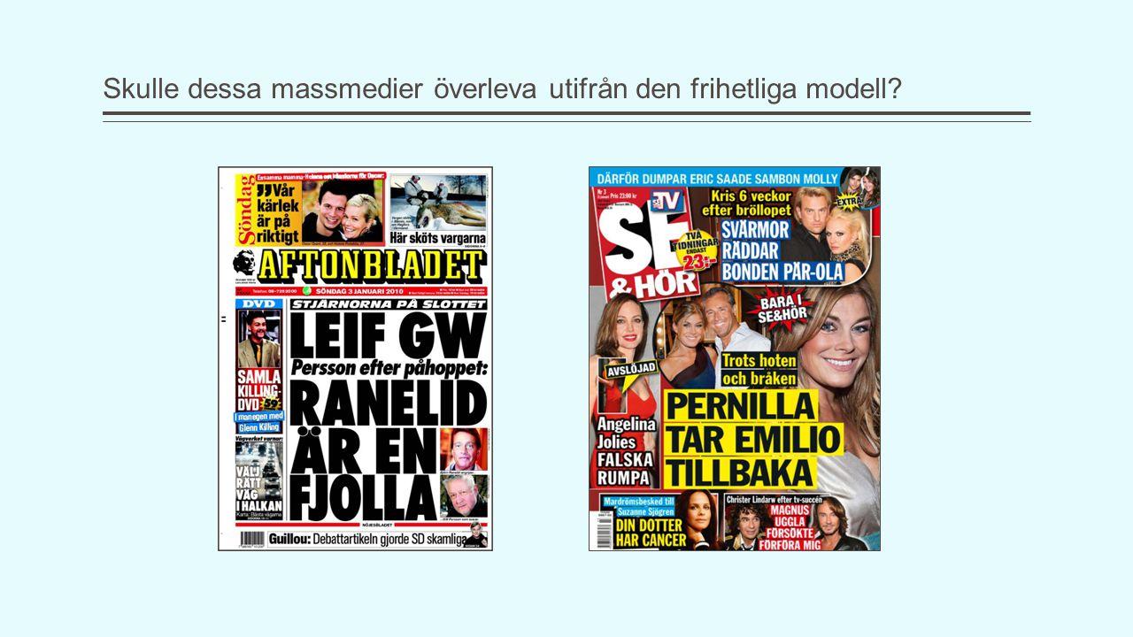 Skulle dessa massmedier överleva utifrån den frihetliga modell?