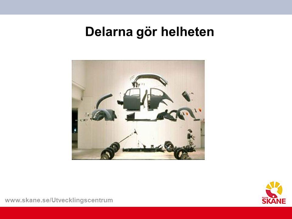 www.skane.se/Utvecklingscentrum Delarna gör helheten