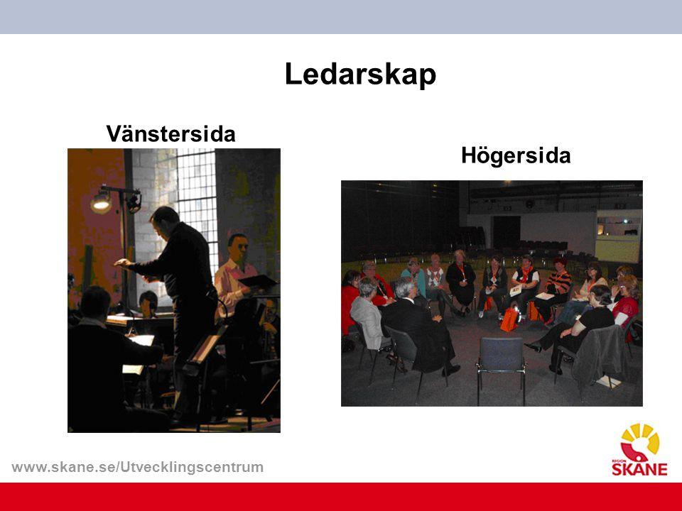 www.skane.se/Utvecklingscentrum Ledarskap Vänstersida Högersida